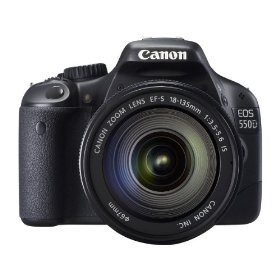 Canon EOS 550D (European EOS Rebel T2i) 18 MP CMOS APS-C Digital SLR Camera with 18-135 mm f/3.5-5.6 IS Lens