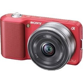 Sony Alpha NEX NEX3A/R Digital Camera with Interchangeable Lens (Red)