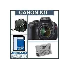 Canon EOS Rebel T2i EF-S Digital SLR Camera Kit.w/18-55MM Lens, Black - Refurbished - with 8GB SD Memory Card, Slinger Camera Bag, Spare LP-E8 Lithium-Ion Rehargeable Battery