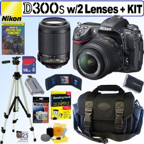 Nikon D300s 12MP CMOS Digital SLR Camera with 18-55mm f/3.5-5.6G AF-S DX