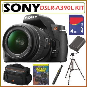 Sony DSLR Alpha DSLR-A390L 14.2MP Camera & 18-55 Lens + 4GB Deluxe Kit