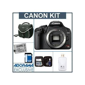 Canon EOS Digital Rebel T1i SLR Camera Body KIT, U.S.A. Warranty - Black Finish - with 8GB SD Memory Card, Spare LP-E5 Lithium-Ion Rechargeable Battery, Slinger Camera Bag,USB 2.0 SD Card Reader, Digital Camera & Lens Cleaning Kit
