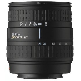 Sigma 28-105mm F3.8-5.6 Aspherical Macro Lens for Nikon-AF Camera