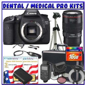 Canon EOS 7D 18MP SLR Digital Camera + Willoughby's Dental/Medical Accessory Package