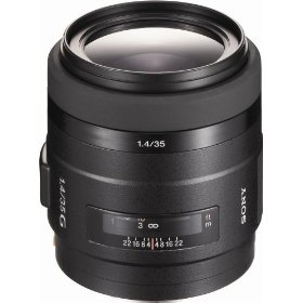 Sony SAL-35F14G 35mm f/1.4 Aspherical G Series Standard Zoom Lens for Sony Alpha Digital SLR Camera