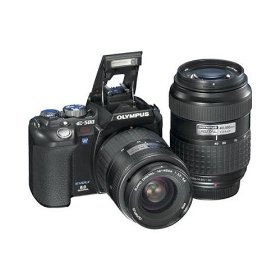 Remanufactured Olympus EVOLT E500 8-Megapixel Digital SLR Camera with 17-45 mm and 40-150 mm Zuiko Lenses