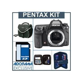 Pentax K7 14.6 Megapixel Digital SLR Camera Body Kit, with with 8GB SD Memory Card, Slinger Camera Bag, Digital Memory Case, Professional Lens Cleaning Kit