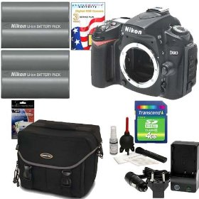 Nikon D90 DX 12.3MP Digital SLR Camera Body + Two (2) Nikon EN-EL3e Batteries + Two (2) Transcend 4GB Memory Card + Naneu SLR System Gadget Bag + 3-Year Extended Digital SLR Warranty + Willoughbys Bonus Kit