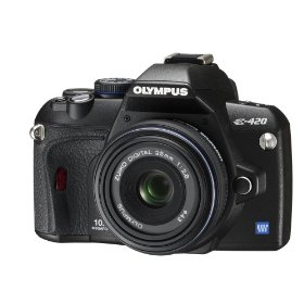 Olympus Evolt E420 10MP Digital SLR Camera with 25mm f/2.8 Pancake Zuiko Lens
