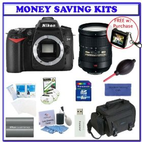 Nikon D90 Digital SLR Camera with 18-200mm f/3.5-5.6G ED-IF AF-S DX VR Autofocus Lens [Outfit] + Transcend 8GB SDHC Card + EN-EL3e Battery + Case + Willoughbys Bonus Travelers Accessory Kit
