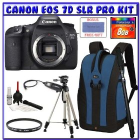 Canon EOS 7D SLR Digital Camera w/ Deluxe Accessory Kit (Body Only)