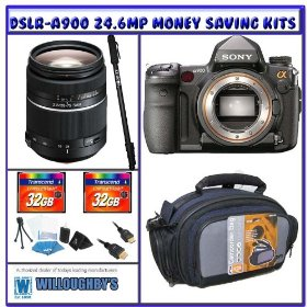 Sony Alpha DSLR-A900 24.6MP SLR (Camera Body) + Sony 28-75mm f/2.8 Smooth Autofocus Motor (SAM) Lens + Two (2) Transcend 32GB CF + Case + Professional Photographer Shooters Package