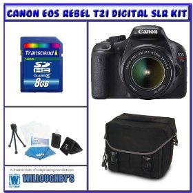 Canon Rebel T2i 18.0 MP Digital SLR w/ Canon 18-55mm IS Lens + Shooter Package K# 2
