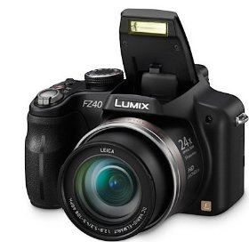Panasonic Lumix DMC-FZ40 Digital Camera KIT including Digital Flash + 8 GB SD Card + Card Reader + Case + Tripod + Mini HDMI Cable!