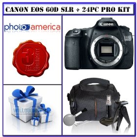 Canon EOS 60D 18 MP CMOS APS-C Digital SLR Camera with 3.0-Inch LCD (Body Only) + 3-Year Extended Warranty for Canon EOS D-SLRs + 16GB Bonus Photographers Package # 1